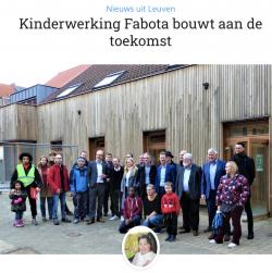 Kinderwerking Fabota bouwt duurzaam aan de toekomst